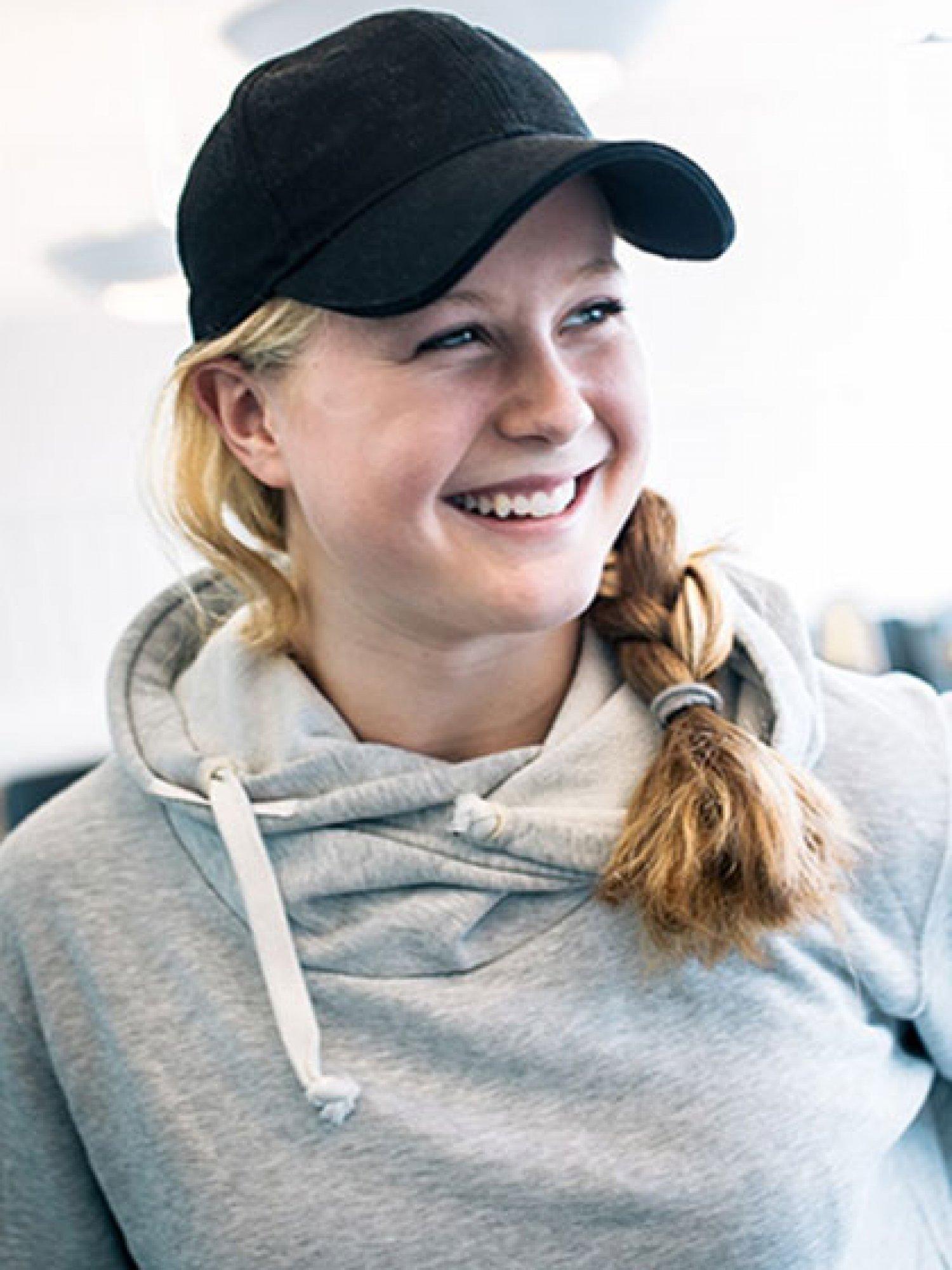 Porträtt av elev på Sjölins Gymnasium.